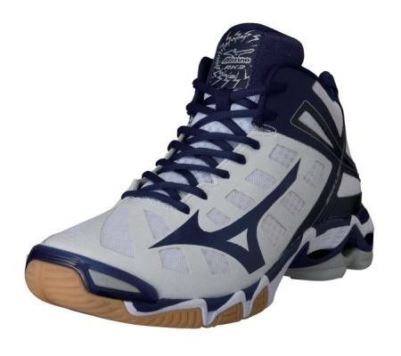 Mizuno wave Lightning RX3 MID-high White/Navy