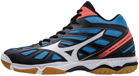 Mizuno Wave Hurricane 3 Mid-high  | blue-red