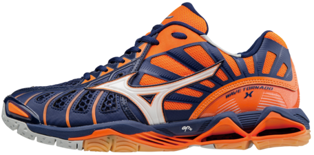 Mizuno Wave Tornado X Orange/navy