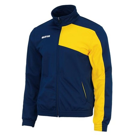 Milton trainingsjack navy-geel maat 3XL
