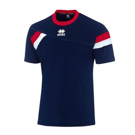 Errea Falkland shirt navy/rood outlet XXS, XS en M