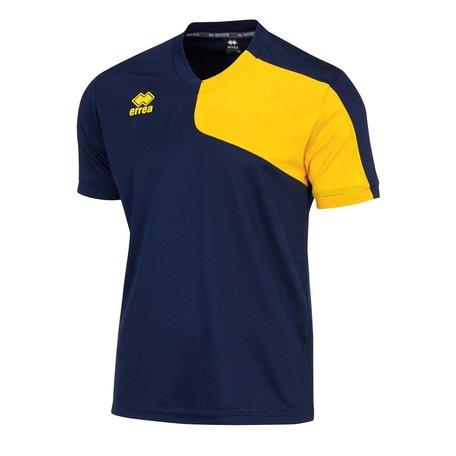 Errea Marcus shirt outlet navy/geel maten S en XXL