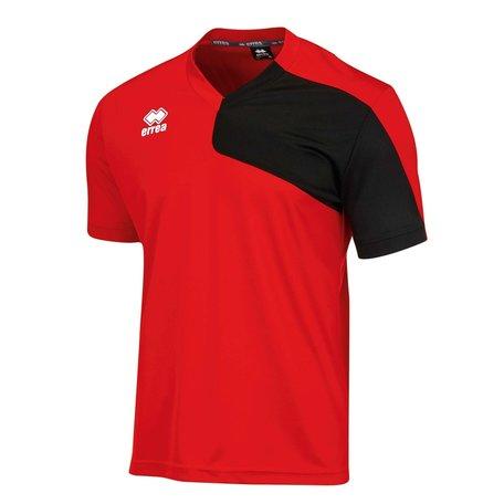 Errea Marcus shirt outlet rood/zwart diverse maten