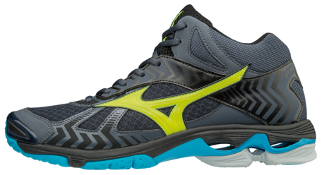Mizuno wave Bolt 7 MID-high | Ombre Blue/Safety Yellow/Black