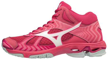 WAVE Bolt 7 MID-high | woman | Azalea/White/Camellia Rose