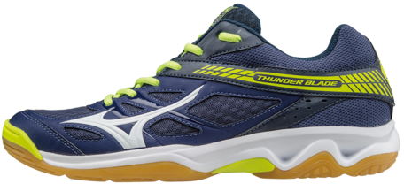 Mizuno Wave ThunderBlade | Navy-Yellow