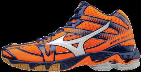 Mizuno wave Bolt 6 MID-high | orange-navy