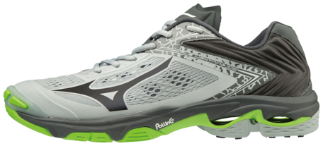 Mizuno wave Lightning Z5 | Grey/Black/Green Gecko